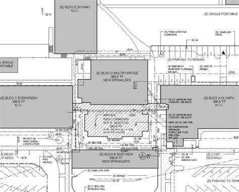 facility construction kent meridian addition building plan facility construction east hill elementary addition site