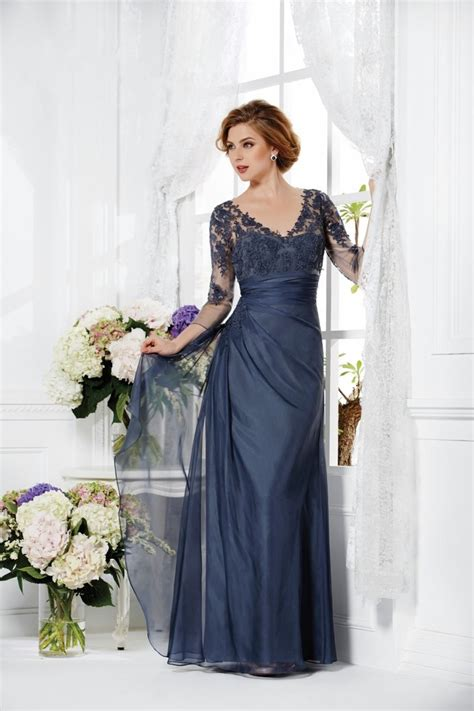modern mother of the bride outfits dresses nigel modern v neck floor length blue chiffon mother of the