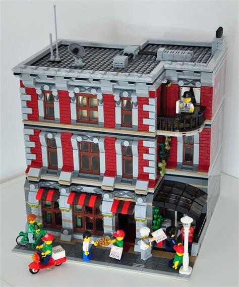 lego modular tutorial lego 174 moc modular pizza parlor lego restaurant