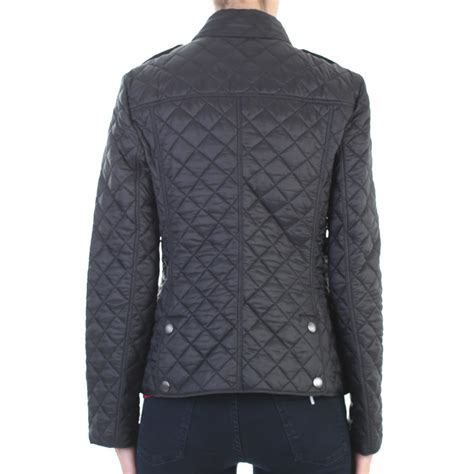 Burberry Black Quilted Jacket by Burberry Kencott Quilted Crepe Jacket In Black Lyst