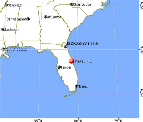 where is mims florida on map mims florida