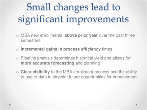 17520 Mba Yr 196 by Lean In He Improving Mba Student Recruiting Process4