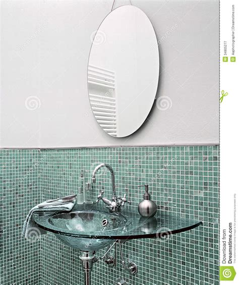 Modern glass washbasin royalty free stock photography image 34805277