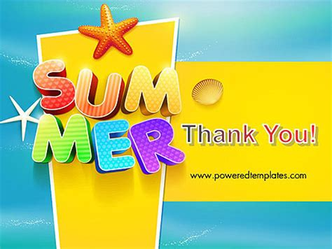 powerpoint summer templates summer powerpoint template backgrounds 12205