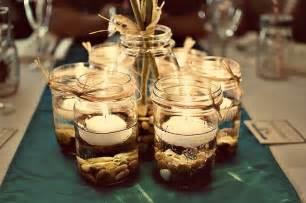 Large Wine Glass Vase Mason Jar Centerpieces Pint Jars Pebbles Floating