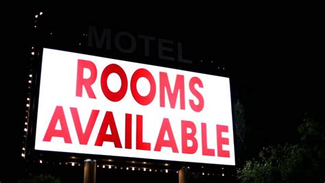 available rooms rooms available sign stock footage 5302109