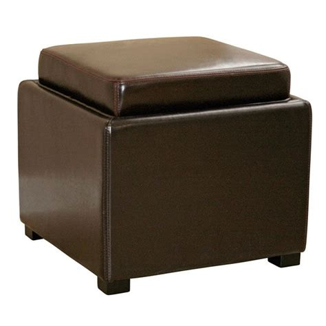 storage cube ottomans marc storage cube ottoman in brown dcg stores