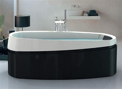black freestanding bathtub ardore freestanding bath by jacuzzi soaker baths in black and white