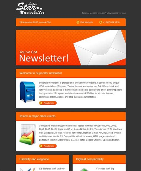 email newsletter layout email newsletter templates 40 hand picked premium designs