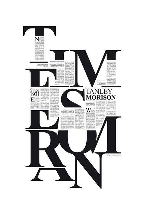 type layout design times new roman on behance