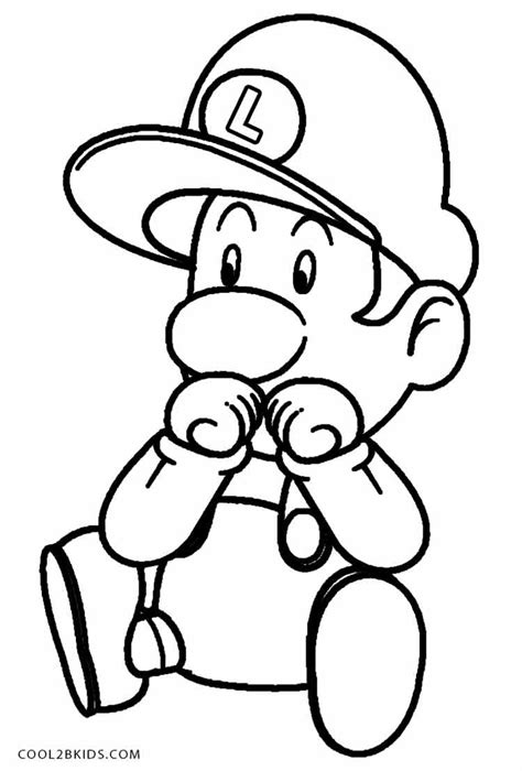 baby luigi coloring page printable luigi coloring pages for kids cool2bkids