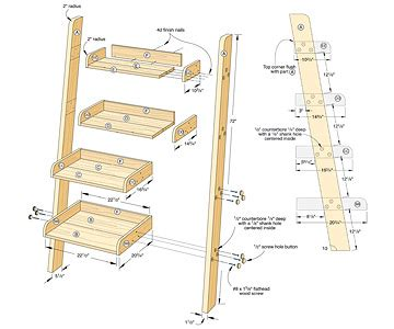 woodworking plans project build wood ladder plans