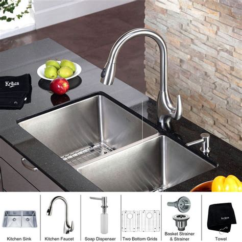kitchen faucet placement kitchen faucet soap dispenser kraus undermount double bowl 16 gauge stainless steel
