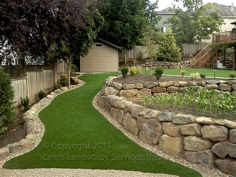 lewis landscape services rock walls portland oregon
