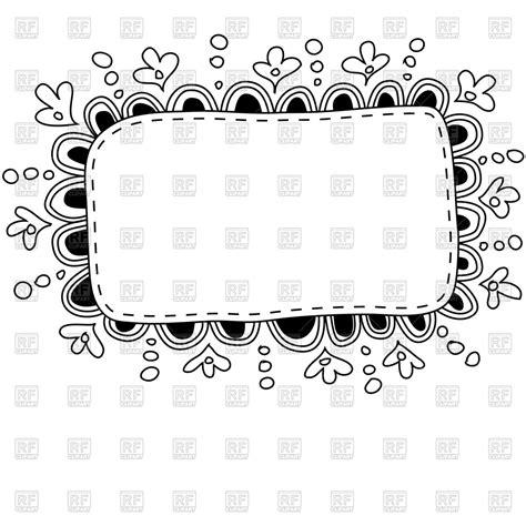 free doodle border vector made doodle frame vector image 44698 rfclipart