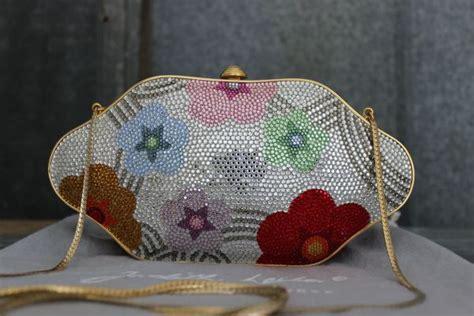 Judith Lieber Glisten Floral Purse by Judith Leiber Swarovski Floral Minaudiere