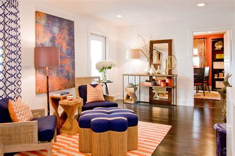2014 living room color trends living room home decor with navy blue and orange color for 2014 trends best home gallery