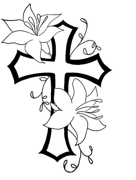 Cool Vases drawings of crosses with flowers free download clip art
