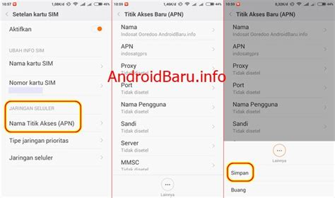 setting apn telkomsel android tercepat cara setting manual 3g im3