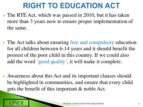 Right To Education Act Essay Writing by Right To Education Act In India Ess