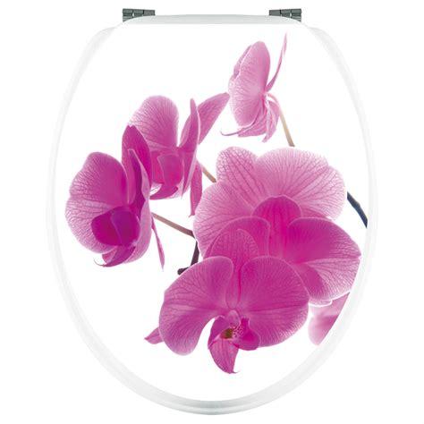 accessoires wc 1698 stickers wc orchid 233 e pas cher