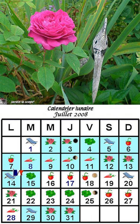 Calendrier Lunaire Novembre 2008 Jardiner Avec La Lune Au Mois De Juillet 2008 Le