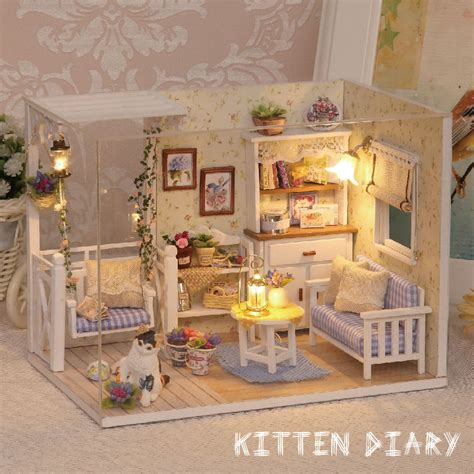 doll houses com doll house furniture diy miniature dust cover 3d wooden miniaturas puzzle dollhouse
