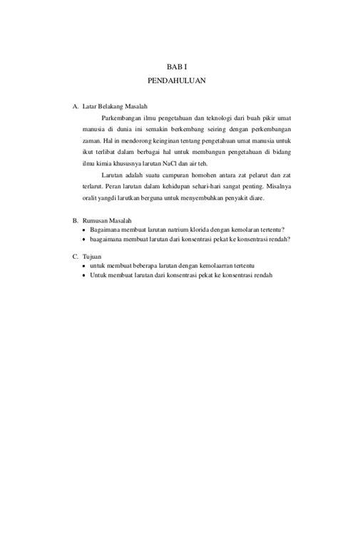 laporan praktikum membuat larutan dengan konsentrasi tertentu laporan praktikum kimia tri rahmatiani gani