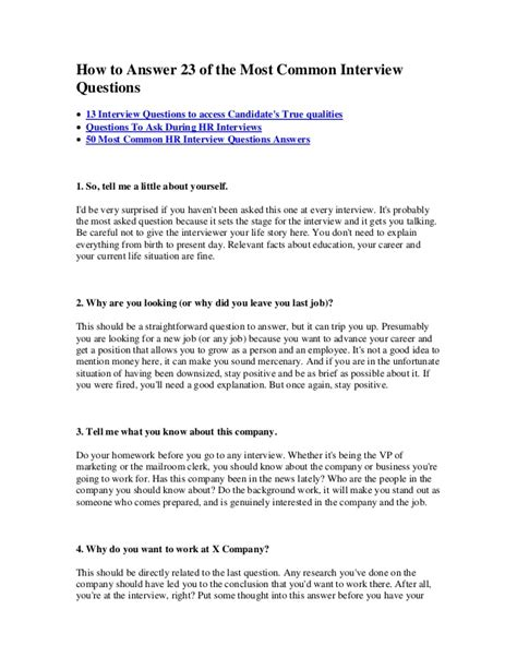 23 most common questions with answers