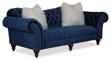 brittney sofa loveseat  chaise set navy  city furniture  mattresses
