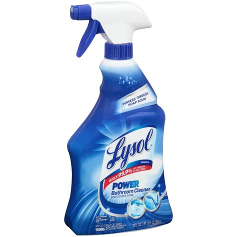 No Wipe Shower Cleaner by Lysol Power Bathroom Cleaner Spray 28 Oz Jet