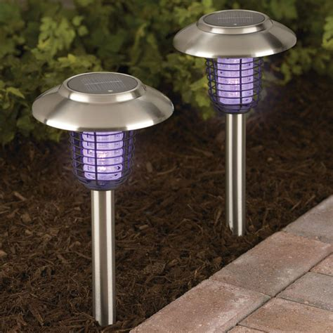 solar insect zappers accent lights the green