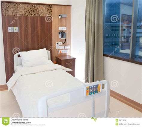 how to make a hospital bed more comfortable empty modern hospital bed stock photo image of