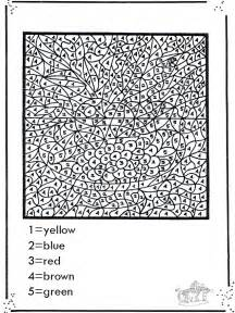color numbers free coloring pages of color by number