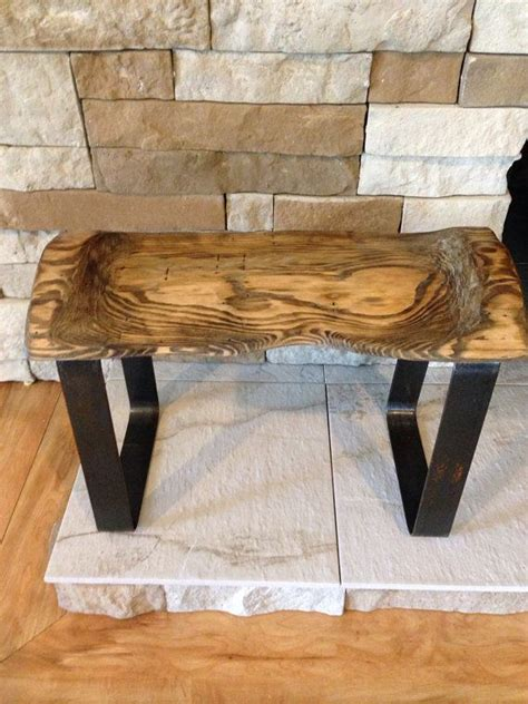 log cutting bench handcrafted reclaimed rustic salvaged natural edge cut log wood bench