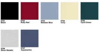 Porsche 356 Paint Codes Services Reference Center Color Charts 356 1950