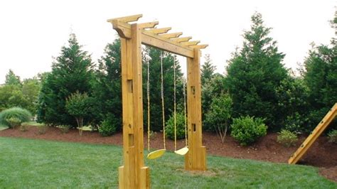 stand alone swings stand alone equipment for outdoor residential wooden playsets