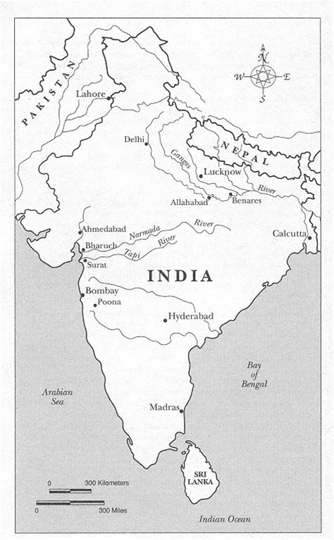 Outline Map Of Indian Subcontinent by Rhetoric And Ritual In Colonial India