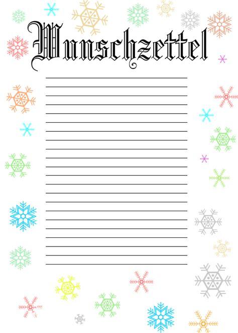 Word Vorlage Wunschzettel Weihnachten Wunschzettel Nr3 Zum Ausdrucken
