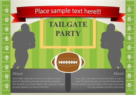 Vector Flyer Design Tailgating Download Free Vector Art Stock Graphics Images Tailgate Template
