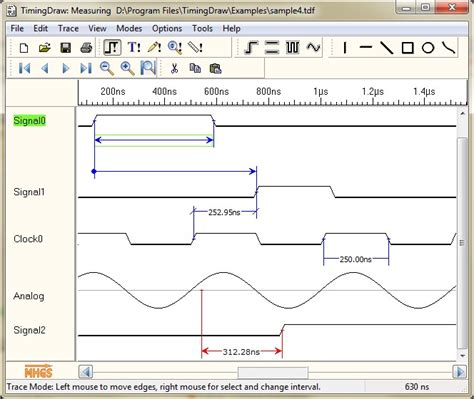 timing diagram editor mhgs timingdraw
