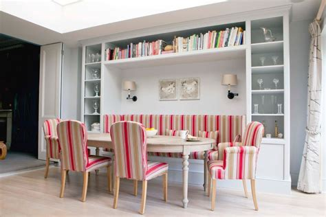 banquette seating dining room dining room bench seating dining room scandinavian with red striped seat cushions wall