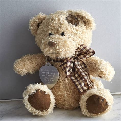 personalised teddy in a tin by warner s end
