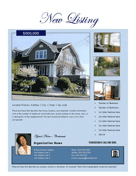 real estate listing flyer template photo its a free flyer templates for microsoft