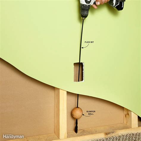 magnificent running electrical wire through studs images