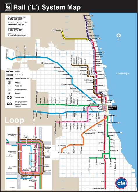 line map chicago line chicago map
