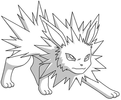 pokemon coloring pages jolteon jolteon base by fluttershy128 on deviantart