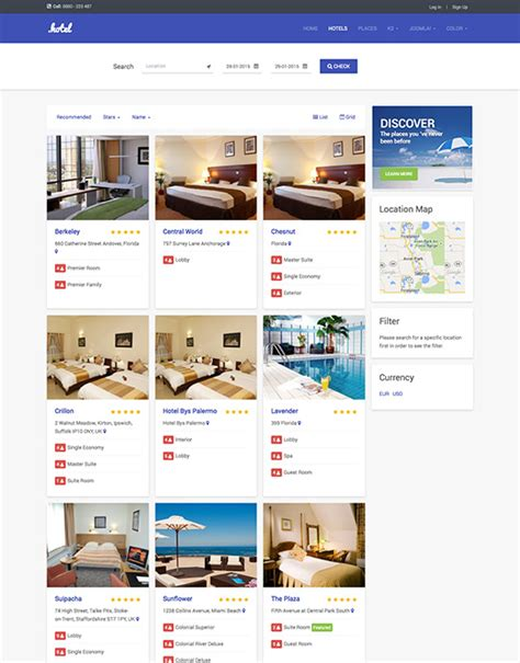 ja hotel v1 responsive hotel and travel template joomla3