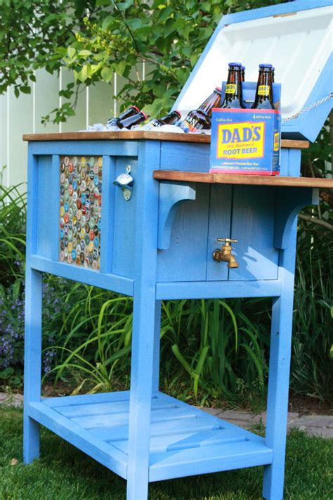 Handmade Coolers - white wood cooler by birds and soap diy projects
