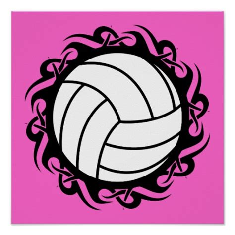 printable volleyball posters tribal volleyball print